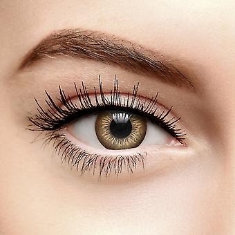 Two Tone Brown Circle Colored Contact Lenses (Daily)