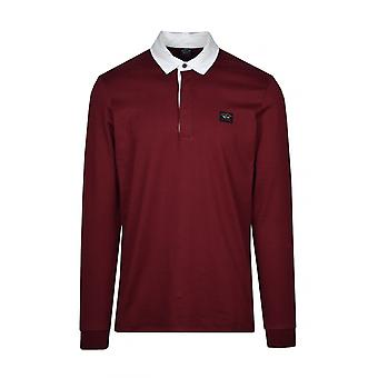 Paul & Shark Paul And Shark Rugby Shirt Burgundy