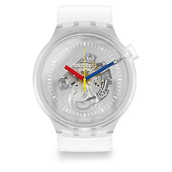 Swatch Watches So27e100 Big Bold Jellyfish Transparent Silicone Watch