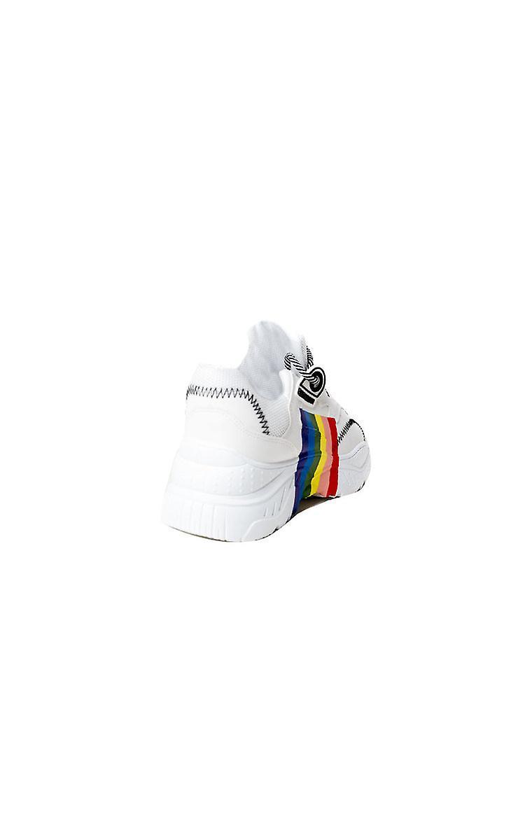 IKRUSH Womens Ray Rainbow Stripe Chunky Trainers 2OjXB