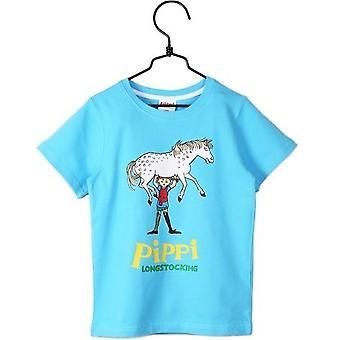 Pippi Longstocking T-shirt Blue, Martinex