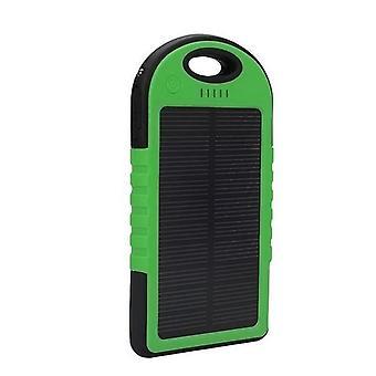 Στοιχεία πιστοποιημένα® εξωτερικό 5000 mAh ηλιακής φόρτισης ηλεκτρική μπαταρία έκτακτης ανάγκης ηλιακής μπαταρίας φορτιστή πράσινο