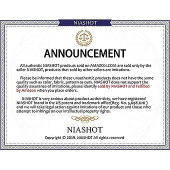 NIASHOT Women's Flowy Summer Short Sleeve T-Shirts Black M