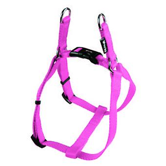 Gloria Pets Harness One Touch Nylon Smooth Ajustável Rosa