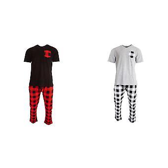 Rohkea sielu miesten ylä-ja pohjat rento tarkistettu Loungewear Set