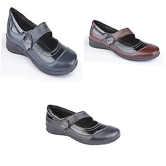 Mod Comfys Womens/Ladies Touch Fastening Leather Casual Shoes