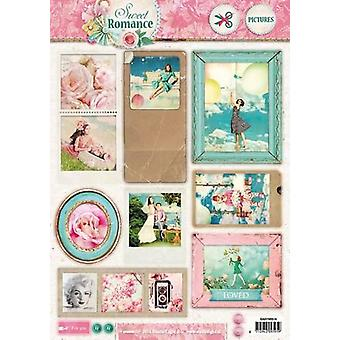 Studio Light Easy 3D Die cut sheet A4 Sweet Romance nr 516 EASYSR516