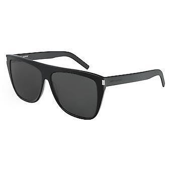 Saint Laurent SL 1 Slim 001 Schwarz/Grau Brille