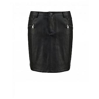 BOSS Banovely Faux Leather Skirt