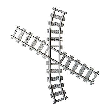 Caterpillar Red Angled Compatible Custom Cross Track, Straight Cross Tracks Crossover, Compatible with Leading Brand