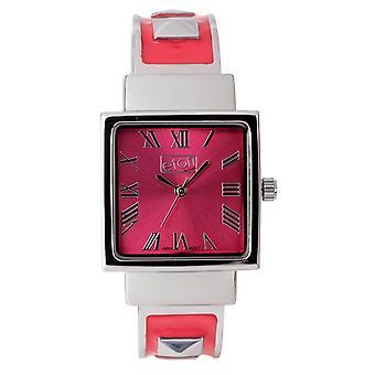 Eton Womens Pink Fashion Watch, Clip on Bangle, studs on bracelet - 3145L-PK