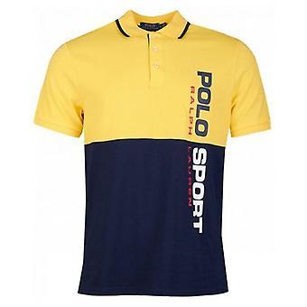 Polo Sport Vertical Logo Colour Block Polo Shirt