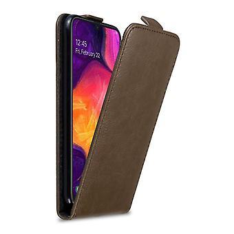 Cadorabo Hülle für Samsung Galaxy A50 hülle case cover - Handyhülle im Flip Design mit Magnetverschluss - Case Cover Schutzhülle Etui Tasche Book Klapp Style