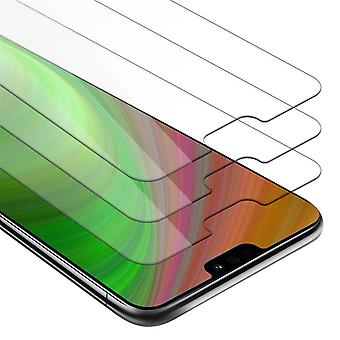 Cadorabo 3x Tank Foil for Honor 8X - Protective Film in KRISTALL KLAR - 3 Pack Tempered Display Protective Glass in 9H Hardness with 3D Touch Compatibility