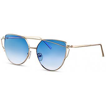 Sonnenbrillen  Damen Schmetterlingsbrille gold/blau (CWI2110)