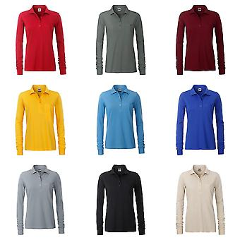 James and Nicholson Womens/Ladies Workwear Long Sleeve Pocket Polo