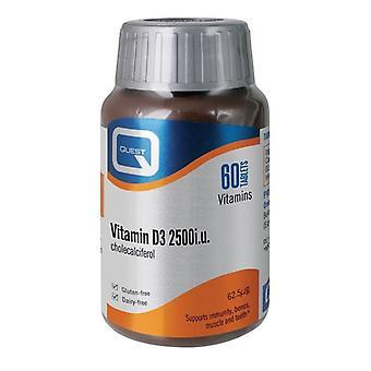Quest Vitamins Vitamin D3 2500iu Tabs 60 (601025)