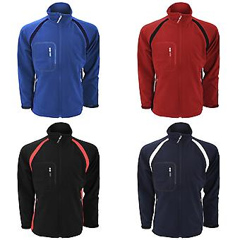 Finden & Hales Mens Team 3-Layer Softshell Sports Jacket