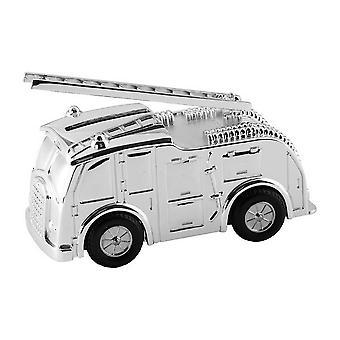 Orton West Fire Engine Money Box - Silver