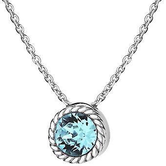 KJ Beckett marzo piedra collar de cristal Swarovski - plata/azul claro