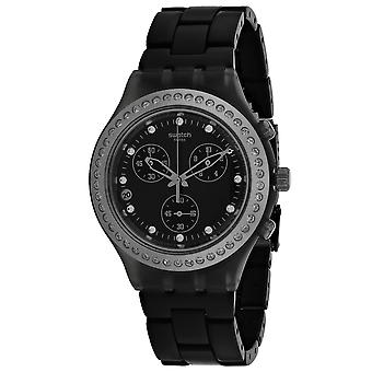 Swatch Women's Full Blooded Stoneheart Black Dial Watch - SVCM4009AG