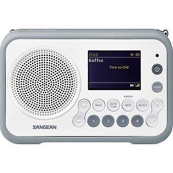 Sangean DPR-76 Hordozható rádió DAB +, FM újratölthető fehér, kő