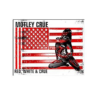 Motley Crue badge Red White and Crue Logo new Official Metal Pin badge