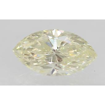 Certified 0.72 Carat I Color VVS2 Marquise Enhanced Natural Diamond 8.17x4.53mm
