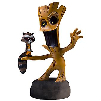 Guardians of the Galaxy Groot & Rocket Animated Statue