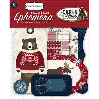 Carta Bella Cabin Fever Ephemera Frames & Tags