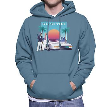 Miami Vice zonsondergang mannen ' s Hooded Sweatshirt