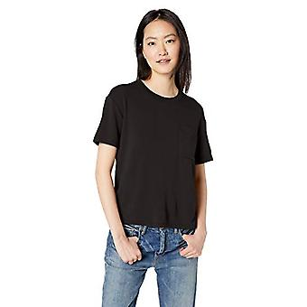 Marque - Daily Ritual Women-apos;s Supersoft Terry Short-Sleeve Boxy Pocket ...