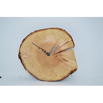 Wooden wall clock wood clock 25x24 cm Thuja tree slice clock wood clock handmade unique handmade Made in Austria gift idea wood decoration wood decoration