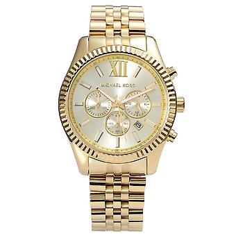 Michael Kors Mens' Lexington horloge - MK8281 - Champagne/goud