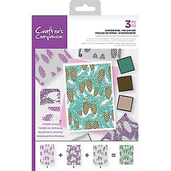 Crafter's Companion Winter Pine Background Layering Timbres