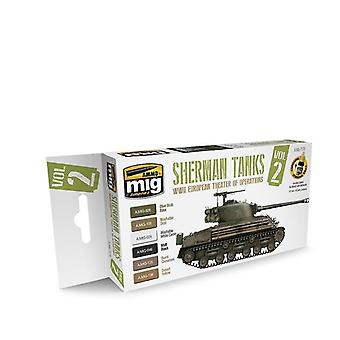 Ammo by Mig WWII European Theater Of Operations Sherman Tanks Set