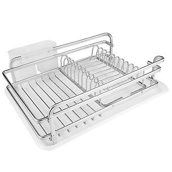 Aluminium Teller Rack mit Besteckhalter