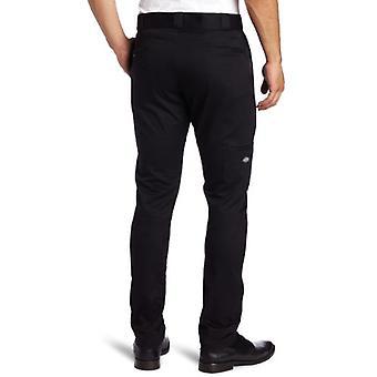 Dickies Men's Skinny Straight Fit Work Pant, Black, 36x34