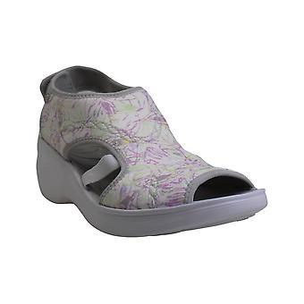 BZees Women's Shoes Dream Fabric Peep Toe Casual Mule Sandals
