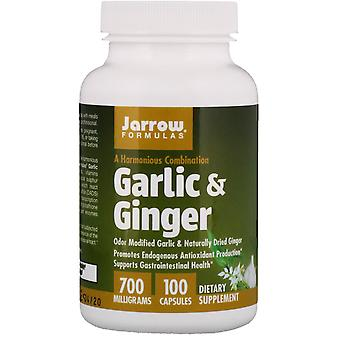 Formules Jarrow, Ail & Gingembre, 700 mg, 100 Capsules