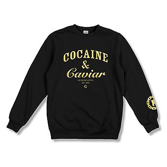 Crooks & Castles Cocaine & Caviar Crewneck Sweatshirt Black
