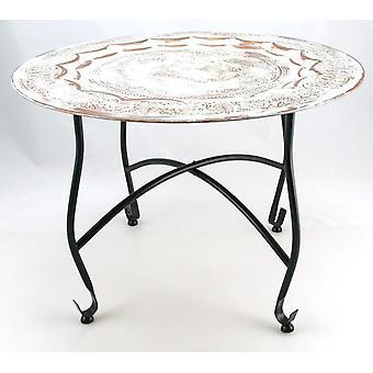 Mesa en rack 59cm de cobre encalado marroquí