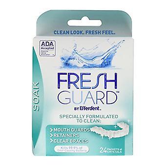 Fresh guard soak, crystals, packets, 24 ea *