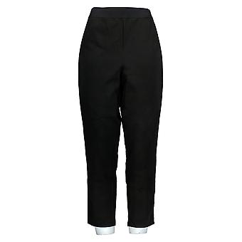 Joan Rivers Femmes-apos;s Pantalon Signature Ankle w/ Stretch Waist Black A374754