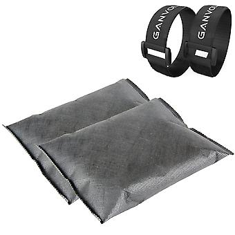 Ganvol 2 x 500g Reusable Dehumidifier Bags (Total 1kg) with 2 Cinch Straps