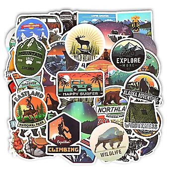 Camping Landscape Stickers-for  Outdoor, Waterproof Sticker