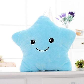 Luminous Stuffed Plush Glowing Stars Pillow Led Light Cushion- Birthday