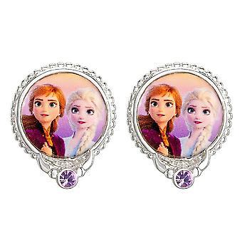 Boucles d'oreilles congelées Elsa et Anna Silver Plated Stud