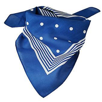 Krawatten Planet Royal Blau mit weißen Streifen & Polka Dot Bandana Neckerchief