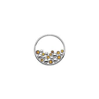 Emozioni Nettare 33mm ekte amber messing sølvbelagt mynt EC488